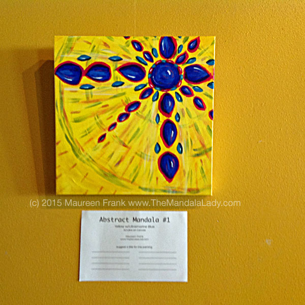 Abstract Mandala 1 - Yellow w/Ultramarine