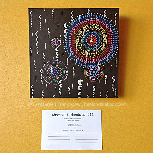 Abstract Mandala 11 - Black w/multi colors