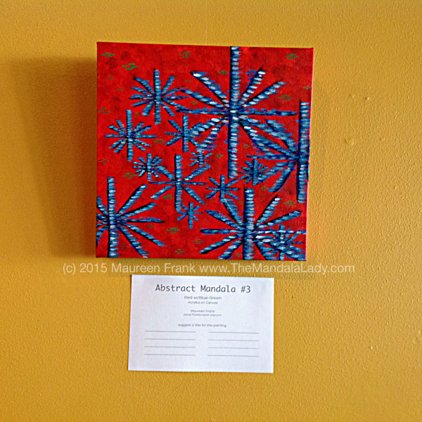 Abstract Mandala 3 - Red w/Blue-Green