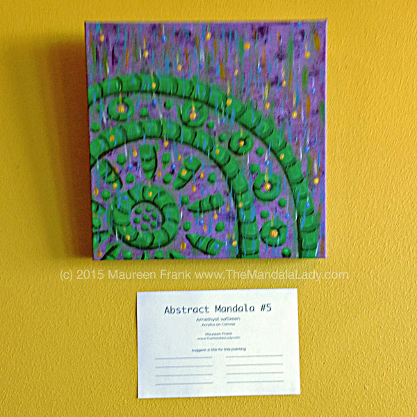 Abstract Mandala 5 - Amethyst w/Spring Green