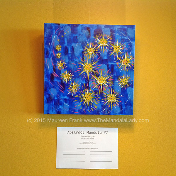 Abstract Mandala 7 - Blue w/Marigold
